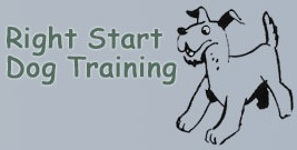 Right Start Dog Training Logo for On All Fours Dog Training Dog Behaviour Website